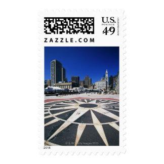 USA, Massachusetts, Boston, Boston harbour Postage Stamp