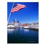 USA, Massachusetts, Boston, Boston harbour, Post Card