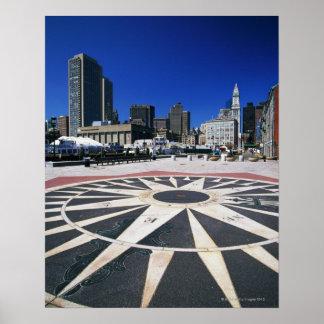 USA, Massachusetts, Boston, Boston harbour Posters