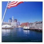 USA, Massachusetts, Boston, Boston harbour, Ceramic Tiles