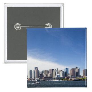 USA, Massachusetts, Boston, City skyline and 2 Inch Square Button
