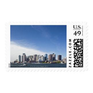 USA, Massachusetts, Boston, City skyline and Stamps