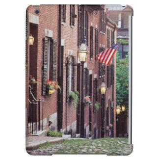 USA, Massachusetts, Boston, Houses Along Acorn iPad Air Cover