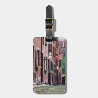 USA, Massachusetts, Boston, Houses Along Acorn Luggage Tag