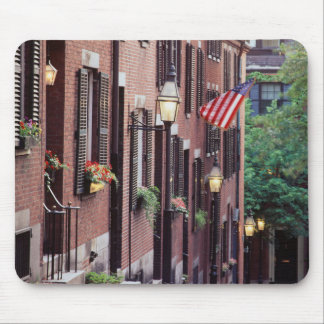USA, Massachusetts, Boston, Houses Along Acorn Mouse Pad