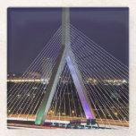 USA, Massachusetts, Boston. Leonard Zakim Glass Coaster