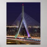 USA, Massachusetts, Boston. Leonard Zakim Poster