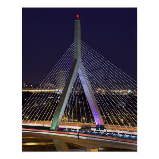 USA, Massachusetts, Boston. Leonard Zakim Poster