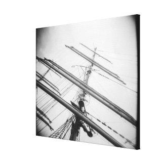 USA, Massachusetts, Boston. Masts of tall ship. Canvas Print