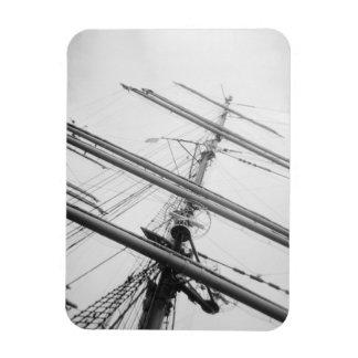 USA, Massachusetts, Boston. Masts of tall ship. Rectangular Photo Magnet