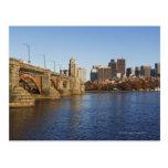 USA, Massachusetts, Boston skyline 2 Postcard