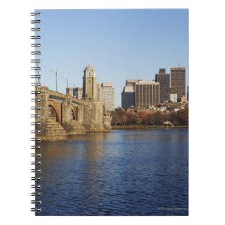 USA, Massachusetts, Boston skyline 2 Spiral Notebook
