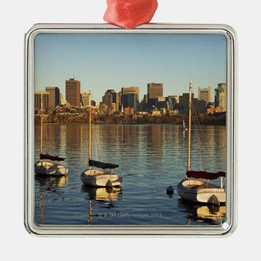 USA, Massachusetts, Boston skyline 3 Metal Ornament
