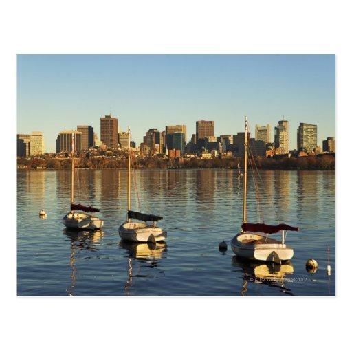 USA, Massachusetts, Boston skyline 3 Post Card