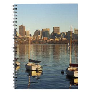 USA, Massachusetts, Boston skyline 3 Spiral Notebook