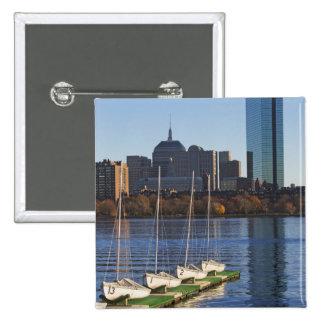 USA, Massachusetts, Boston skyline 4 2 Inch Square Button