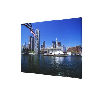 USA, Massachusetts, Boston skyline and Financial Canvas Print