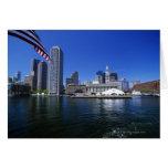 USA, Massachusetts, Boston skyline and Financial Card