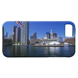 USA, Massachusetts, Boston skyline and Financial iPhone 5 Covers