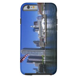 USA, Massachusetts, Boston skyline and Financial Tough iPhone 6 Case