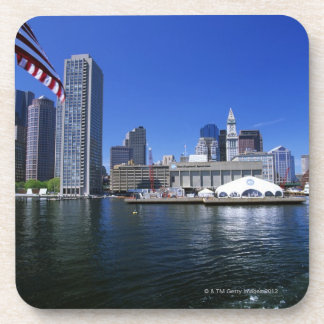 USA, Massachusetts, Boston skyline and Financial Drink Coaster