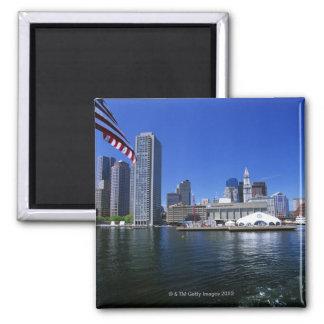 USA, Massachusetts, Boston skyline and Financial Magnet
