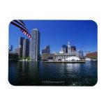 USA, Massachusetts, Boston skyline and Financial Vinyl Magnets