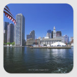 USA, Massachusetts, Boston skyline and Financial Square Sticker