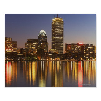 USA, Massachusetts, Boston skyline at dusk 2 Print