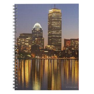 USA, Massachusetts, Boston skyline at dusk 2 Spiral Notebook