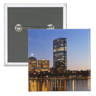 USA, Massachusetts, Boston skyline at dusk 2 Inch Square Button