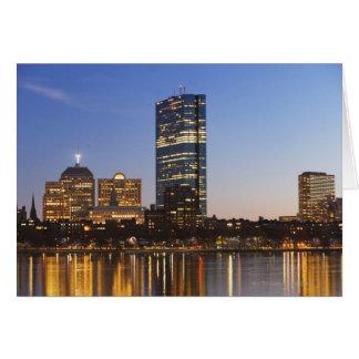USA, Massachusetts, Boston skyline at dusk Card