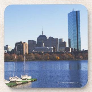 USA, Massachusetts, Boston skyline Drink Coaster
