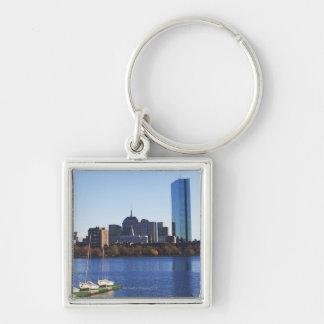 USA, Massachusetts, Boston skyline Key Chains