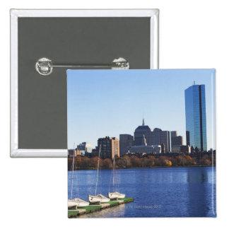USA, Massachusetts, Boston skyline Pinback Button