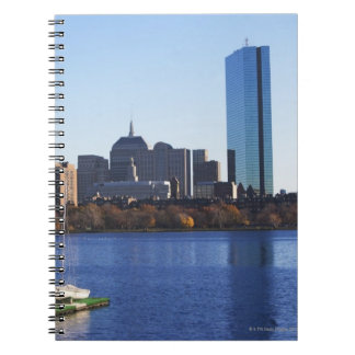 USA, Massachusetts, Boston skyline Spiral Notebook