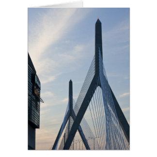 USA, Massachusetts, Boston. The Zakim Bridge. 2 Greeting Card