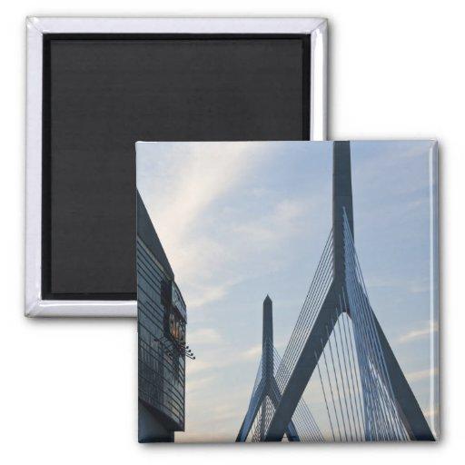 USA, Massachusetts, Boston. The Zakim Bridge. 2 Magnets