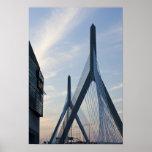 USA, Massachusetts, Boston. The Zakim Bridge. 2 Posters