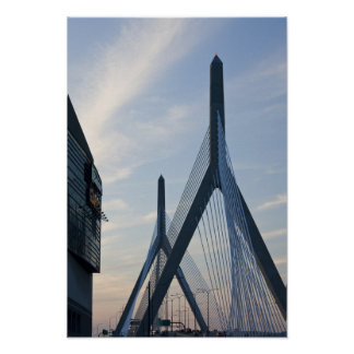 USA, Massachusetts, Boston. The Zakim Bridge. 2 Poster