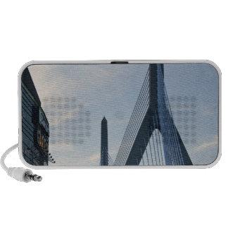 USA, Massachusetts, Boston. The Zakim Bridge. 2 Mini Speakers