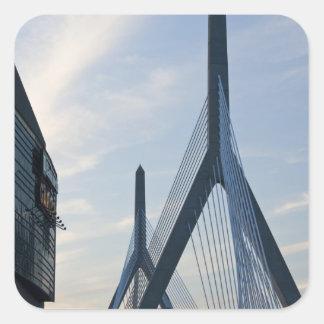 USA Massachusetts Boston The Zakim Bridge 2 Square Stickers