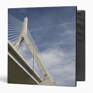 USA, Massachusetts, Boston. The Zakim Bridge. 3 Ring Binder