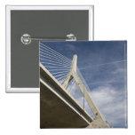 USA, Massachusetts, Boston. The Zakim Bridge. Button