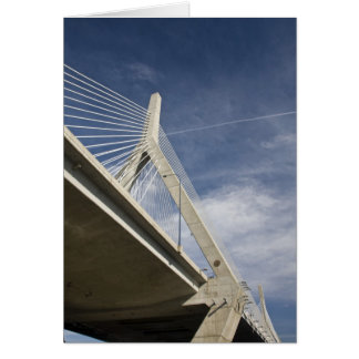 USA, Massachusetts, Boston. The Zakim Bridge. Greeting Card