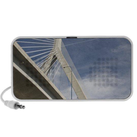 USA, Massachusetts, Boston. The Zakim Bridge. Portable Speaker