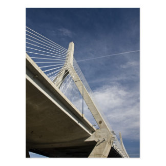 USA, Massachusetts, Boston. The Zakim Bridge. Postcard