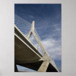 USA, Massachusetts, Boston. The Zakim Bridge. Print