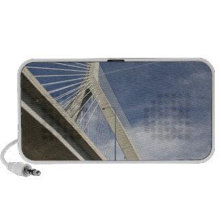 USA, Massachusetts, Boston. The Zakim Bridge. Mp3 Speakers