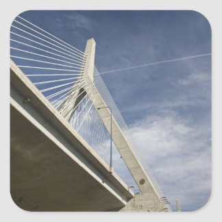 USA Massachusetts Boston The Zakim Bridge Square Sticker